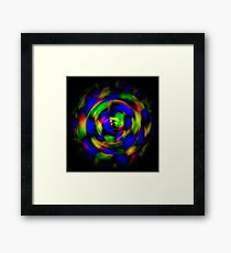 Digitally enhanced image abstract twirl background Framed Print