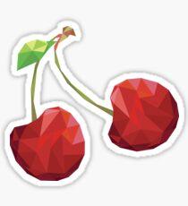 Cherry Low-poly  Sticker