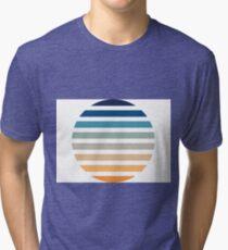 Beach- Sand, Ocean, Sky Color Theme Tri-blend T-Shirt