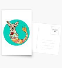 Chester the Chihuahua Mermutt Postcards
