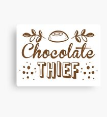 chocolate theif Canvas Print