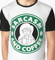 Sarcasm and Coffee Graphic T-Shirt