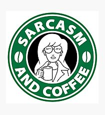 Sarcasm and Coffee Photographic Print