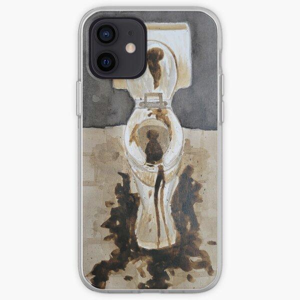 Inktober, Toilet, Poop, Gross, Restroom, Bathroom iPhone Soft Case