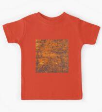 Orange rust texture - red rusty metal background Kids Tee