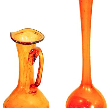two brown vases of Hebron Glass  by PhotoStock-Isra