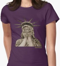LADY LIBERTY Womens Fitted T-Shirt