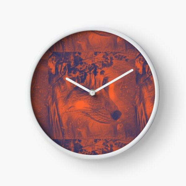 Mystic Fox Spirit of the Forest Clock
