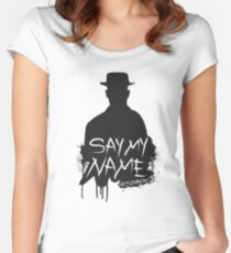 Say My Name - Heisenberg (Silhouette version) Women's Fitted Scoop T-Shirt