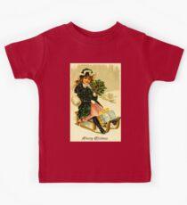 CHRISTMAS; Vintage Sleigh Ride Print Kids Tee