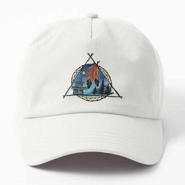 Inukshuk autochtone Casquette Dad Hat