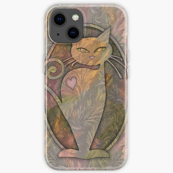 Whimsically Watchful Cat iPhone Soft Case