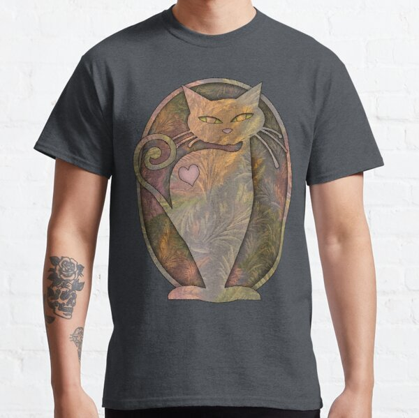 Whimsically Watchful Cat Classic T-Shirt
