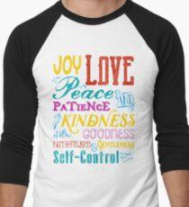 Love Joy Peace Patience Kindness Goodness Typography Art Men's Baseball ¾ T-Shirt