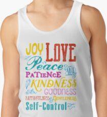 Love Joy Peace Patience Kindness Goodness Typography Art Tank Top