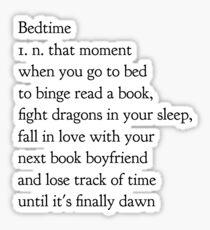 bedtime Sticker