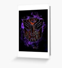 Autobots Abstractness Greeting Card