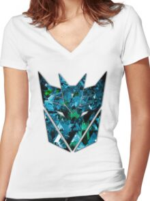Decepticons Abstractness Women's Fitted V-Neck T-Shirt