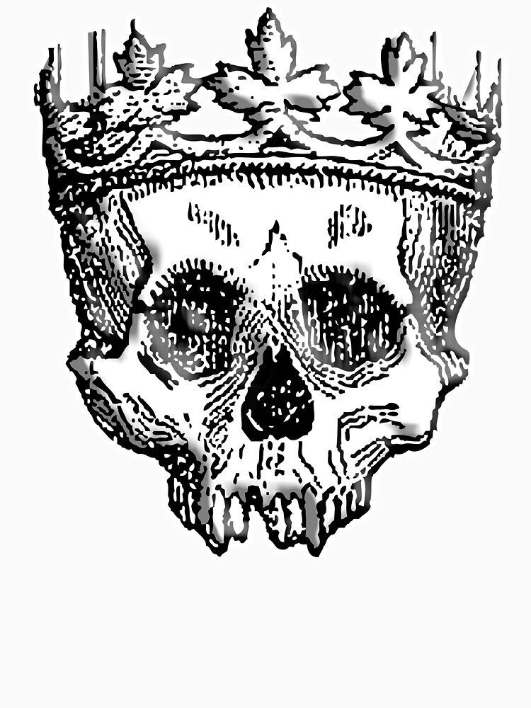 SKULL KING, DEATH, King of the Dead, Skull, Crown, on WHITE by TOMSREDBUBBLE