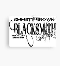 Doc Brown Blacksmith Canvas Print