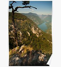 Beautiful Lake and Spectacular Mountains Poster