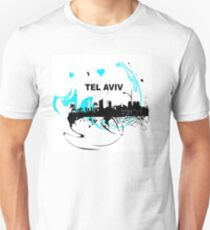 Art skyline of the Mediterranean Sea, Tel Aviv, Israel  Unisex T-Shirt