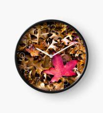 autumn red Clock