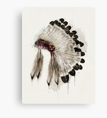 winter headdress Canvas Print