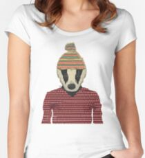 Seb the badger  Women's Fitted Scoop T-Shirt