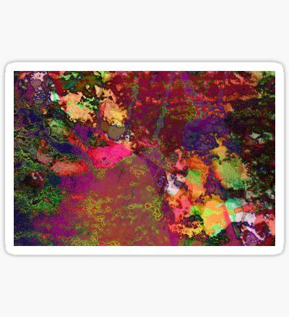 Paw Prints Paint Splash Sticker
