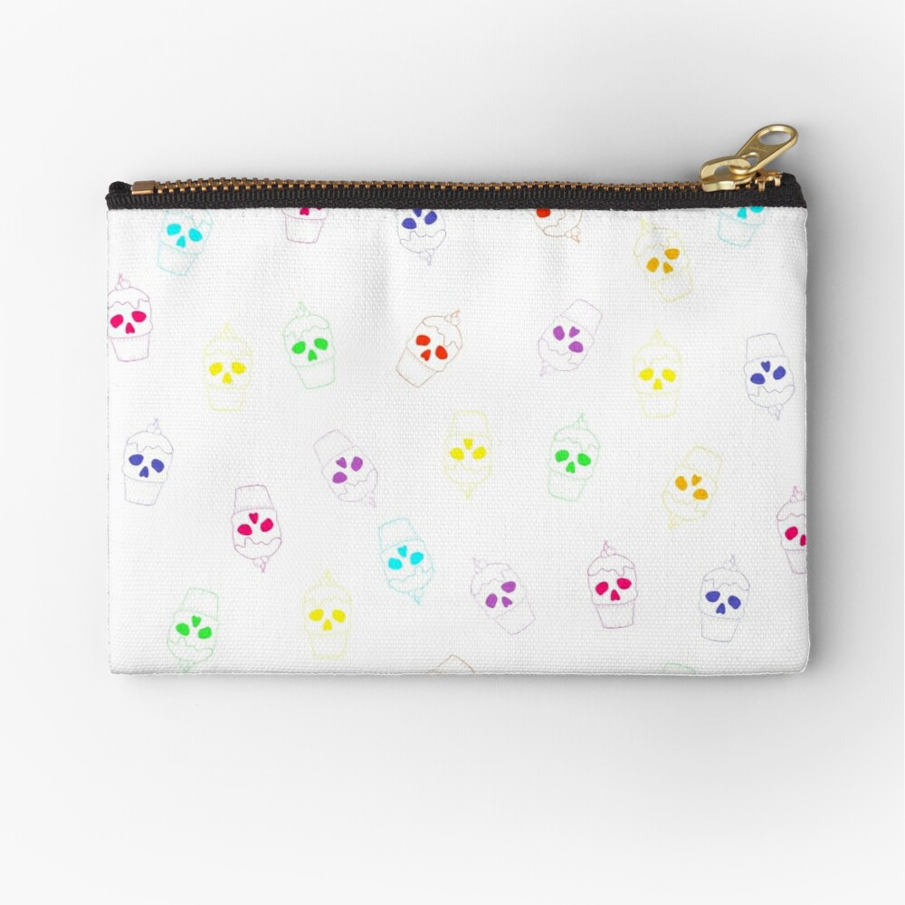 Skull Rainbow Zipper Pouch