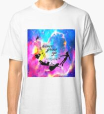 Never Grow U p Nebula Blue Classic T-Shirt