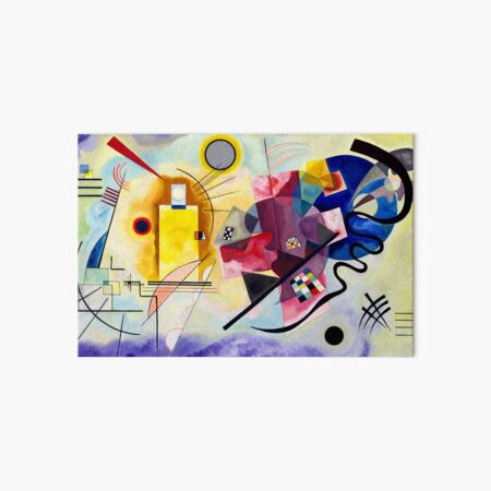 yellow red blue Vassily Kandinsky abstract Art Board Print