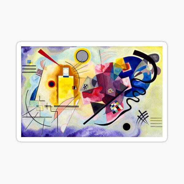 yellow red blue Vassily Kandinsky abstract Sticker