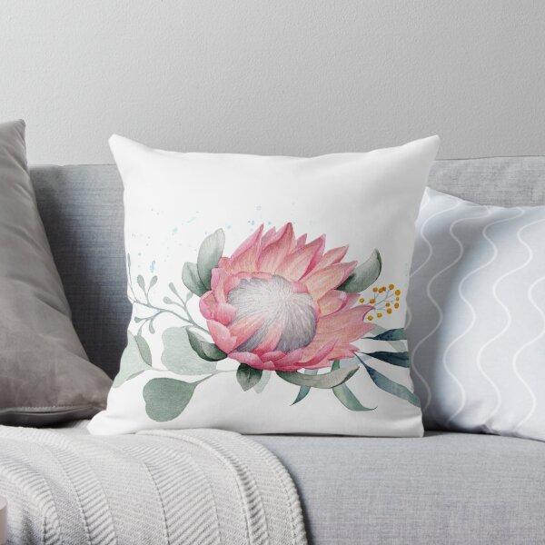 Protea Posy Throw Pillow
