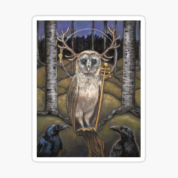 Le Pape Tarot card the Hierophant  Sticker