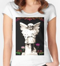 Angel in my Garden Women's Fitted Scoop T-Shirt