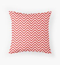 Chevron Red and white Throw Pillow