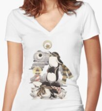 Penguins intrepid Women's Fitted V-Neck T-Shirt