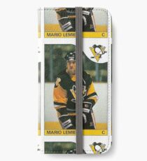 Mario Lemieux Rookie Card  iPhone Wallet/Case/Skin