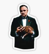 The Godfather's Cat Sticker