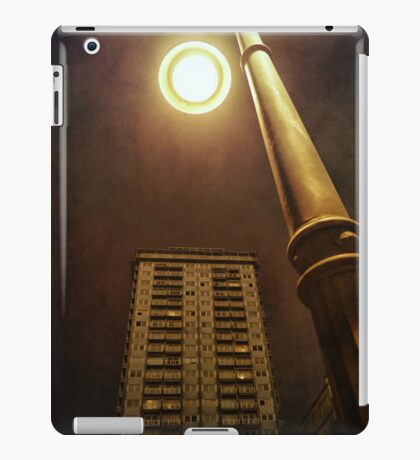 Night with street lamp and building iPad Case/Skin