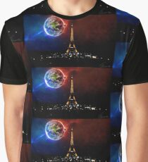 Eiffel Tower Universe Graphic T-Shirt