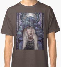 Nauthiz Rune Maiden black cat sorceress Classic T-Shirt