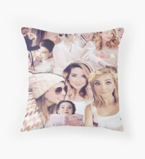 Zoe Sugg - Zoella Collage Throw Pillow