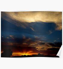 Sunray Sunset Poster