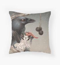 Pixi and crow Throw Pillow
