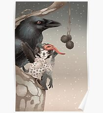 Pixi and crow Poster