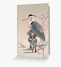 Two hearts in the snow Greeting Card