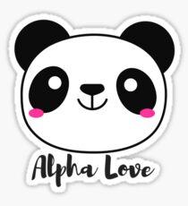 Alpha Love Panda Sticker